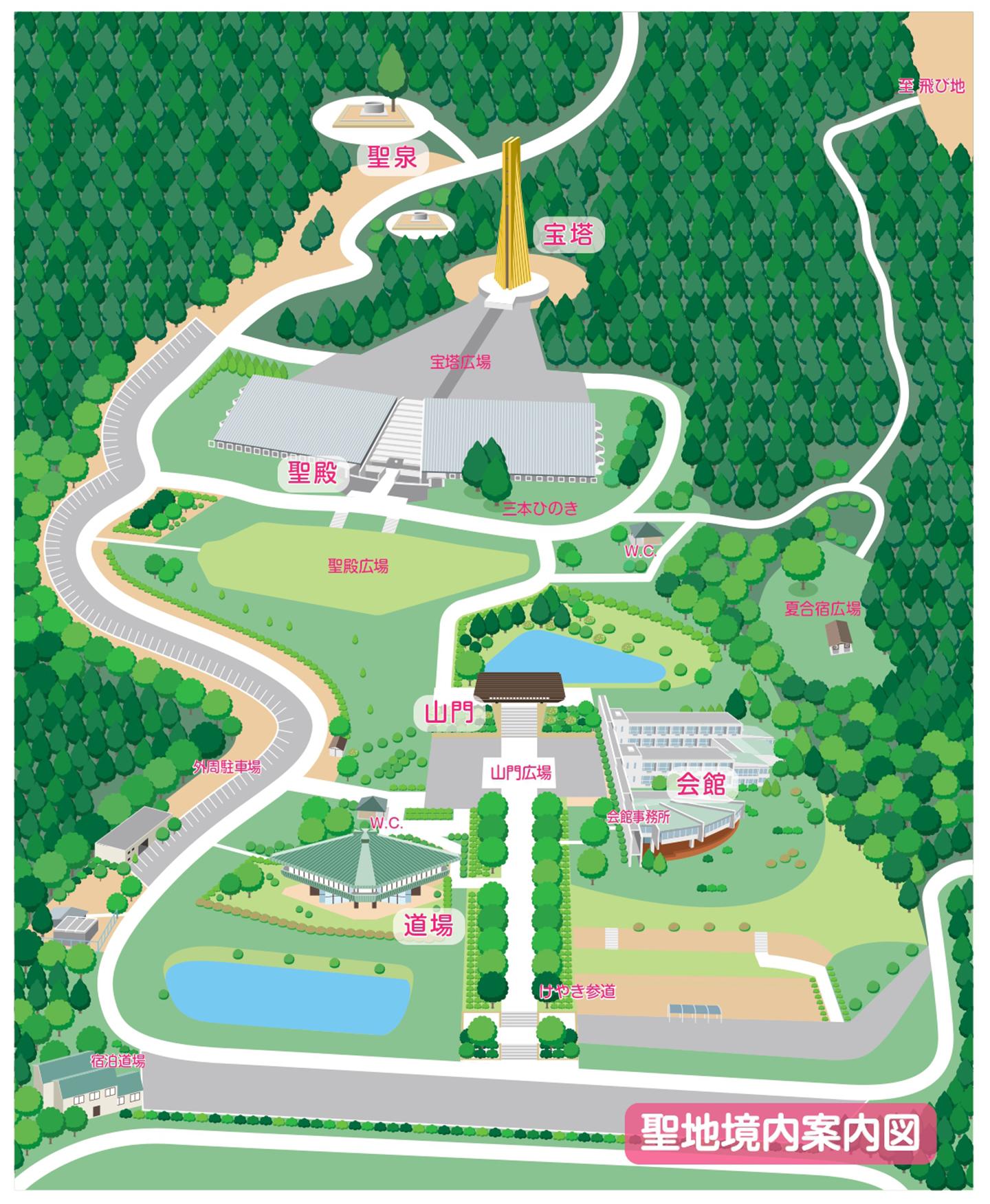聖地境内案内図